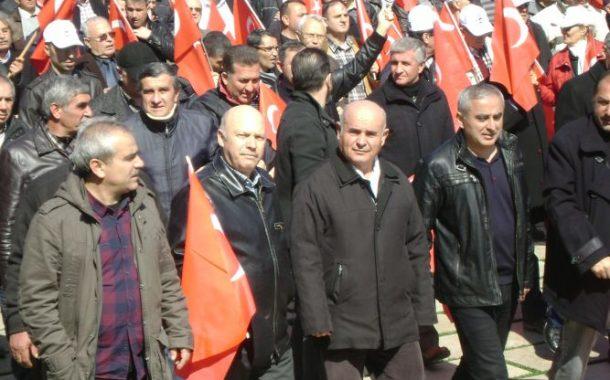 15 mart ölüm orucu destek yürüyüşü
